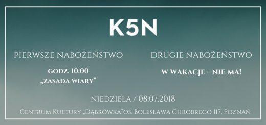 nabożeństwo kościoła k5n w poznaniu 08-07-2018