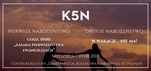 informacja o nabożeństwie kościoła baptystów k5n w poznaniu 05.08.2018