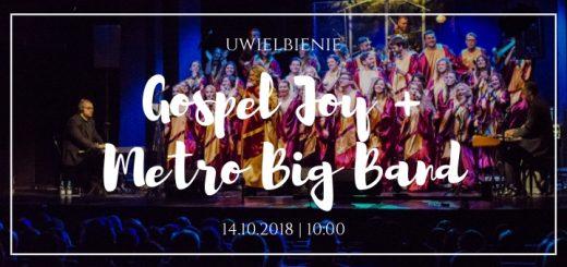 Ogłoszenie o koncercie Gospel Joy i Metro Big Band w K5N