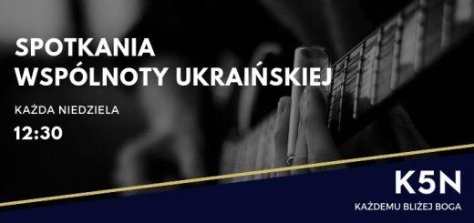 informacja o spotkaniach wspólnoty ukraińskiej w kościele k5n