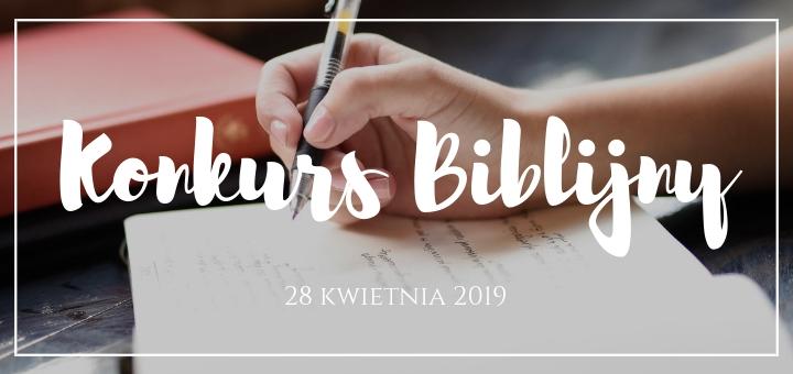 Informacje o konkursie biblijnym k5n 2019